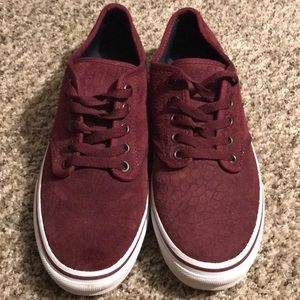 Vans Authentic Burgandy Canvas Shoes - Size 9.5